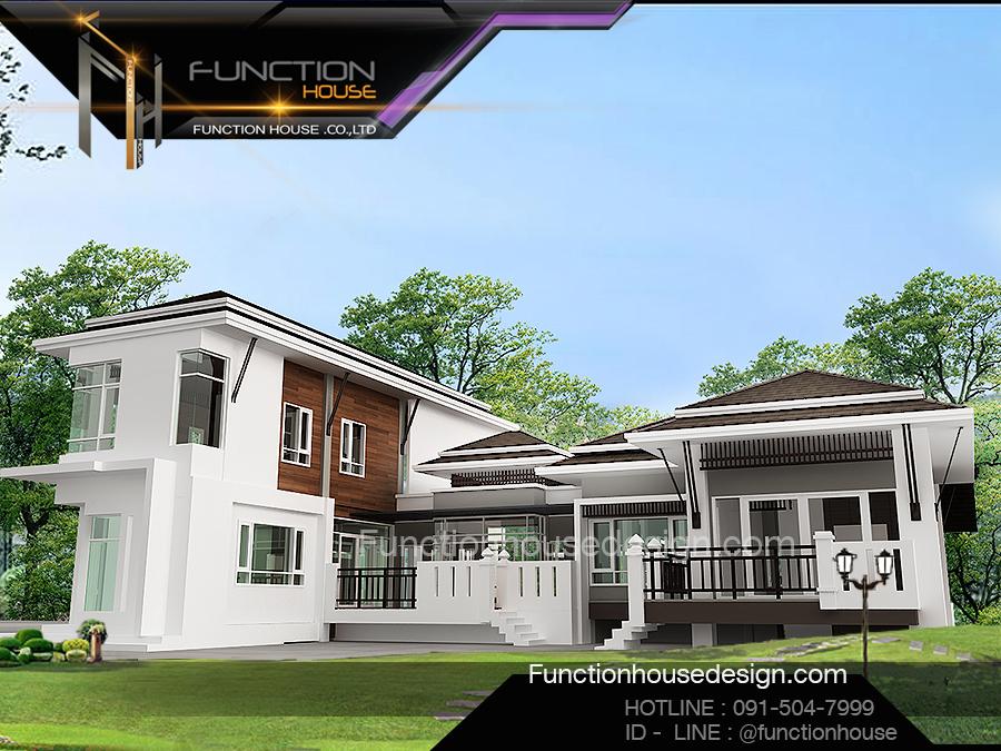 ออกแบบบ้านสวยสองชั้น