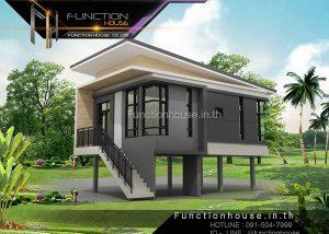 ออกแบบบ้านชั้นเดียวยกสูง
