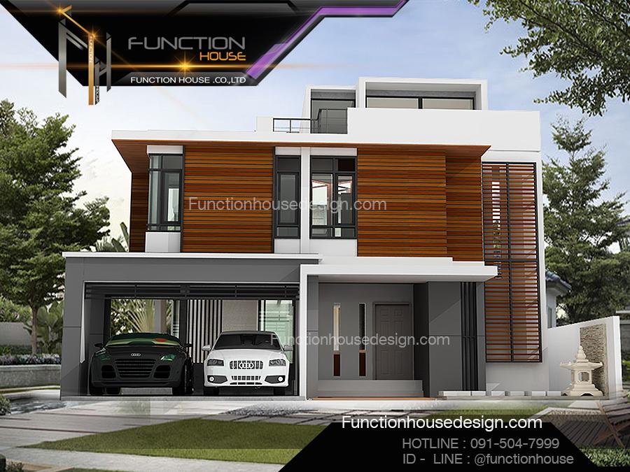 ออกแบบบ้านสวยสองชั้น 10